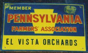 El Vista Orchards Sign