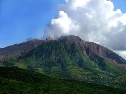 Montserrat with clouds