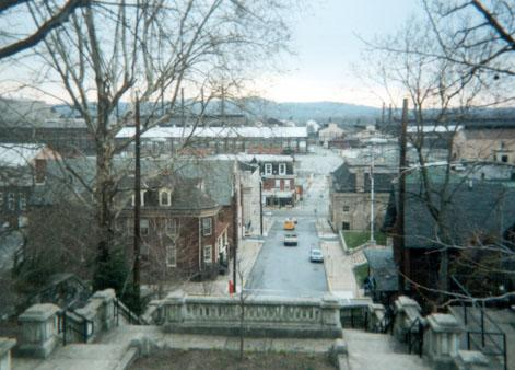 View of Steelton from the top of the stairs